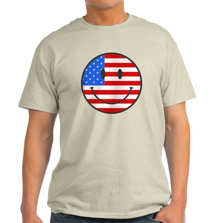 4th Of July Happy Smile Light T-Shirt