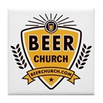 Beer Church Tile Coaster