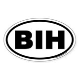 BIH Oval Decal