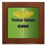 Veterinary Assistants Care Framed Tile