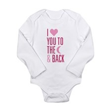 The Moon and Back Long Sleeve Infant Bodysuit