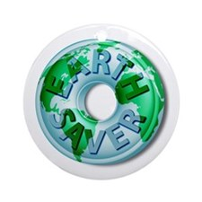 Earth Saver Environmental Ornament (Round)