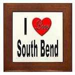 I Love South Bend Framed Tile