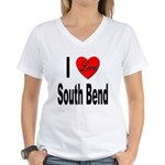 I Love South Bend Women's V-Neck T-Shirt