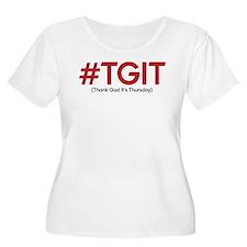 #TGIT Women's Plus Size Scoop Neck T-Shirt