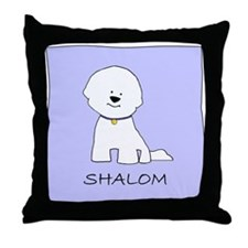 Bichon Frise Shalom Throw Pillow