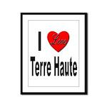 I Love Terre Haute Framed Panel Print