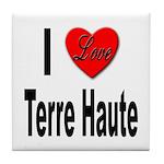 I Love Terre Haute Tile Coaster