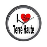 I Love Terre Haute Wall Clock