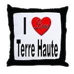 I Love Terre Haute Throw Pillow
