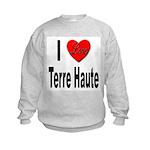 I Love Terre Haute (Front) Kids Sweatshirt