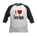 I Love Terre Haute Kids Baseball Jersey