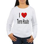 I Love Terre Haute (Front) Women's Long Sleeve T-S
