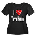 I Love Terre Haute (Front) Women's Plus Size Scoop