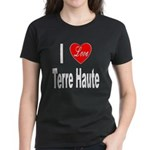 I Love Terre Haute (Front) Women's Dark T-Shirt