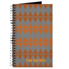 Custom Classic Vintage Orange Grey Pattern Journal