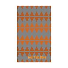 Custom Classic Vintage Orange Grey Pattern Decal