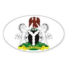 Nigeria Coat of Arms Oval Decal