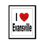 I Love Evansville Framed Panel Print