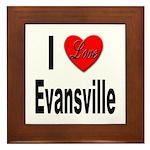 I Love Evansville Framed Tile