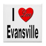 I Love Evansville Tile Coaster