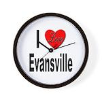 I Love Evansville Wall Clock