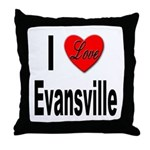 I Love Evansville Throw Pillow