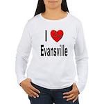 I Love Evansville Women's Long Sleeve T-Shirt