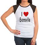 I Love Evansville (Front) Women's Cap Sleeve T-Shi