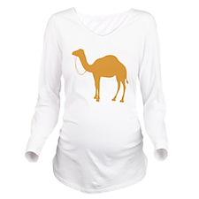 Brown Camel Long Sleeve Maternity T-Shirt
