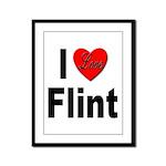 I Love Flint Framed Panel Print