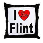 I Love Flint Throw Pillow