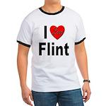 I Love Flint (Front) Ringer T