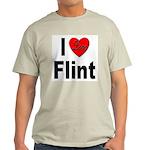 I Love Flint Light T-Shirt