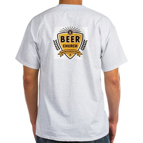Ash Grey Beer Church Logo T Shirt By Beerchurch