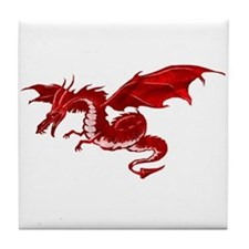 Red Dragon Tile Coaster