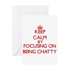 Being Chatty Greeting Cards