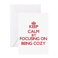Being Cozy Greeting Cards