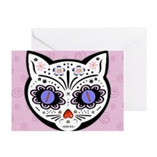 Kitty Kat Sugar Skull Greeting Cards (Pk of 20)