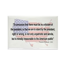 Teddy Roosevelt - 1918 Quote Rectangle Magnet