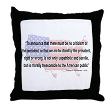Teddy Roosevelt - 1918 Quote Throw Pillow