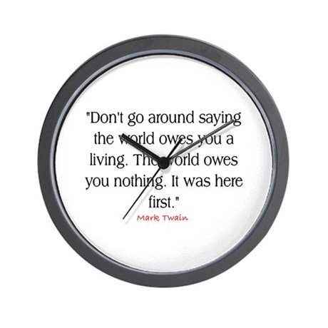 MARK TWAIN QUOTE Wall Clock
