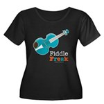 Fiddle Freak Blue Violin Plus Size Scoop Neck Tee
