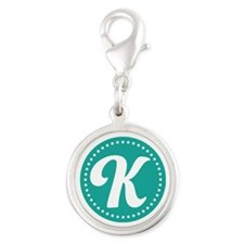 Letter L Silver Round Charm