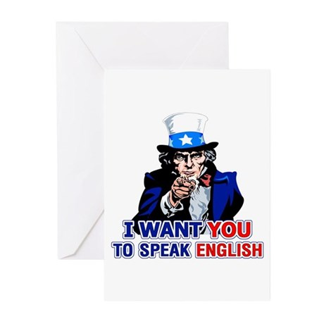 Speak English Greeting Cards (Pk of 10)