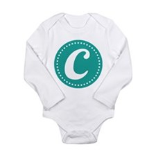 Letter C Long Sleeve Infant Bodysuit