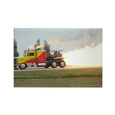 Shockwave Jet Truck Rectangle Magnet