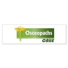 Osteopaths Care Bumper Bumper Stickers