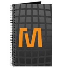 Cool High Tech Monogram Pattern Journal