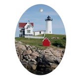 Nubble Light Ornament (Oval)